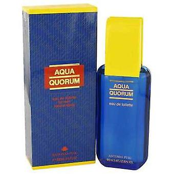 Aqua quorum by Antonio Puig Eau de toilette spray 3,4 oz (mænd) V728-417014