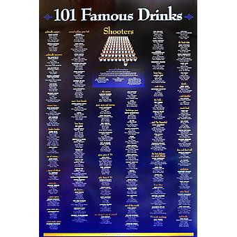 Poster - 101 Famous Drinks - Shooters Wall Art Licensed Gifts Toys 24025