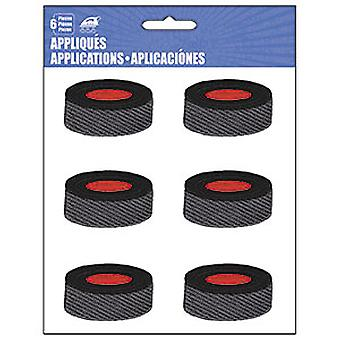 Patch - C&D - Sports Hocky Pucks Iron-On New Gifts Toys p-4545-s