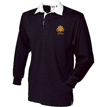 East Yorkshire Regiment Veteran - Licensed British Army Embroidered Long Sleeve Rugby Shirt