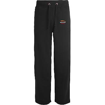 Queens Own Yeomanry Veteran - Licensed British Army Embroidered Open Hem Sweatpants / Jogging Bottoms