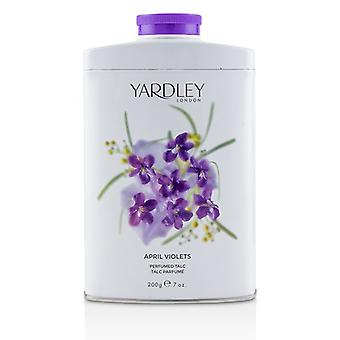 Yardley Londra aprilie violete parfumat talc 200g/7oz