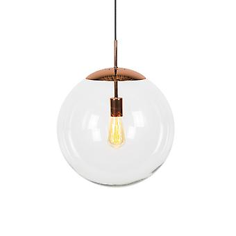 QAZQA Moderne Pendelleuchte Kupfer mit Glasschirm - Ball 40