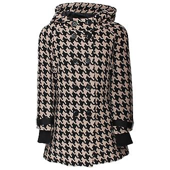 Creenstone Dogtooth Hooded Cape Coat