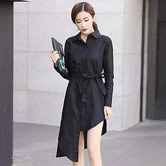 Comfortable Turn-down Collar Dress