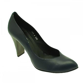Audley Navy Women's Classic High Heel Court Shoe