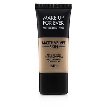 Make up para sempre matte Velvet Skin cobertura completa Fundação-# Y355 (neutro bege)-30ml/1oz