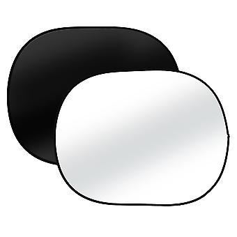 BRESSER TR-3 opvouwbare achtergrond 2-zijdig zwart/wit 120x180cm