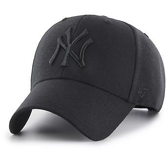 47 Brand Curved Snapback Cap MLB New York Yankees noir