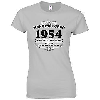 65 års fødselsdag gaver til kvinder hendes fremstillet 1954 T-shirt
