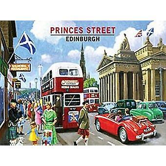 Princes Street, Edinburgh litet stål skylt 200mm x 150MM (og)