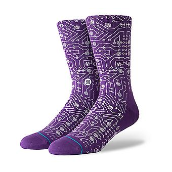 Stance Connector Crew Socks in Purple