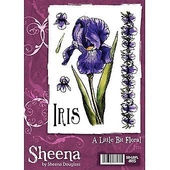 Un peu floral A6 Rubber Stamp Set - Timbre Iris