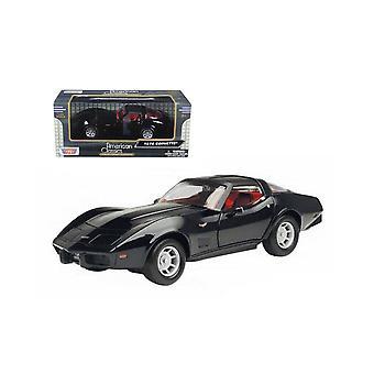 MotorMax  American Classics - 1979 Corvette Black  1:24