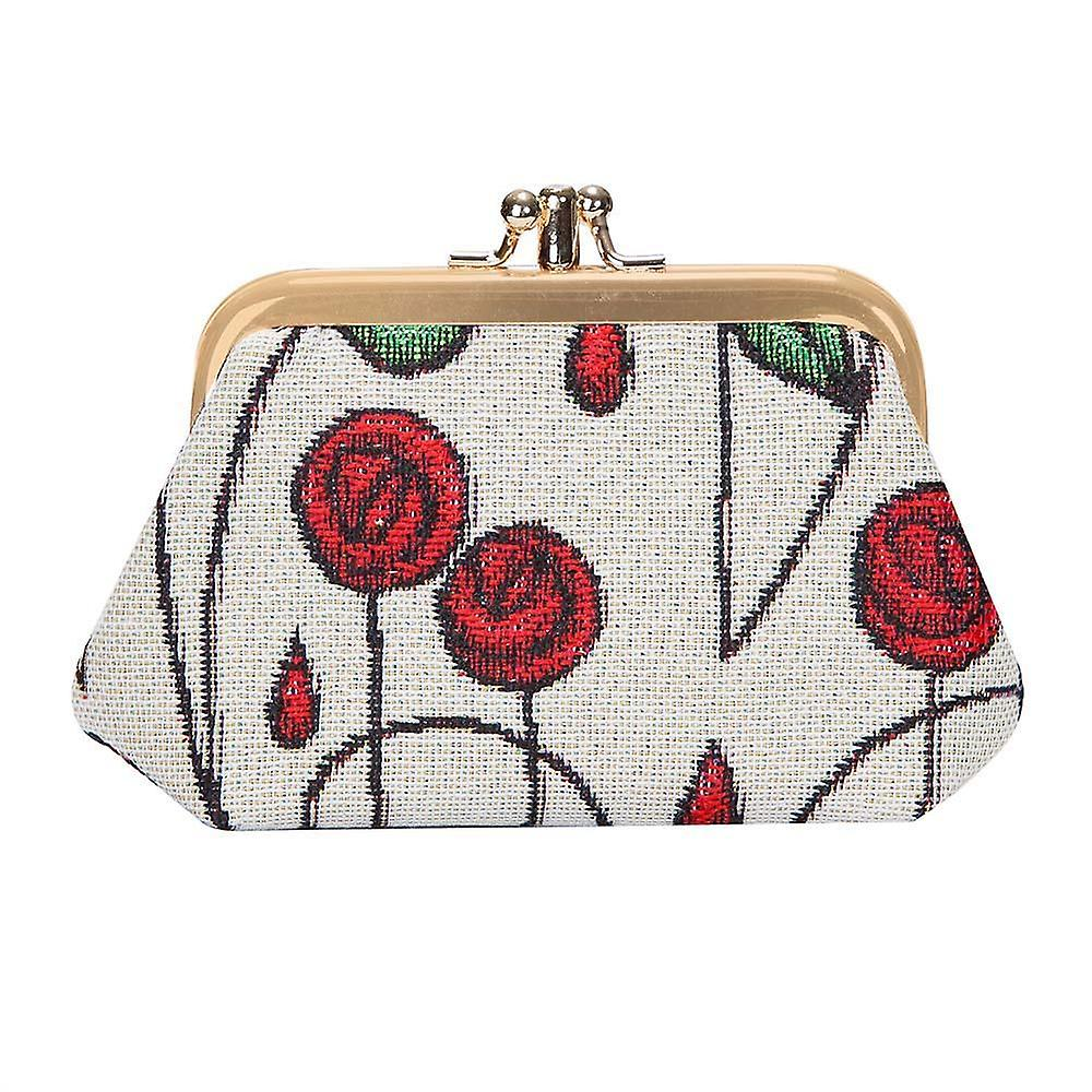 Mackintosh - simple rose coin purse by signare tapestry / frmp-rmsp