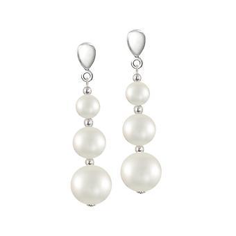 Eterna colección icónica Shell blanco perla gota Clip en pendientes