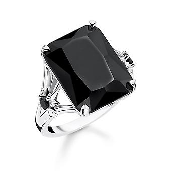 Thomas Sabo Sterling Silver Thomas Sabo Magic Stones Black Star Cocktail Ring TR2261-641-11