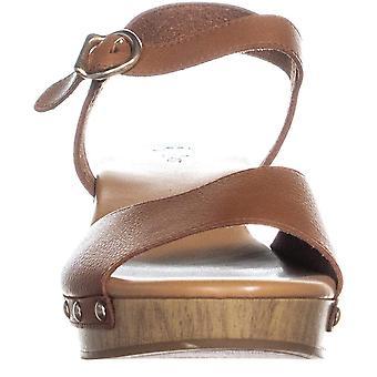 SC35 Anddrea Peep Toe Studded Side Ankle Strap Sandals, Umber