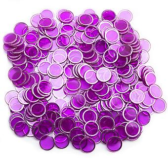 300 Pack Purple Magnetic Bingo Chips