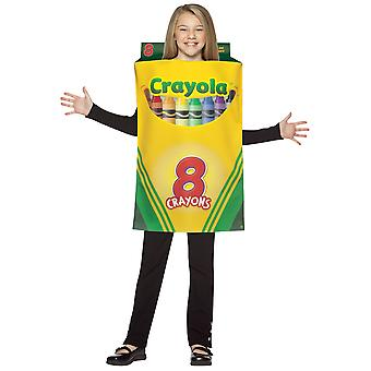 Crayola Crayon Box Crayon 8 Color Art School Book Week Child Girls Costume 7-10