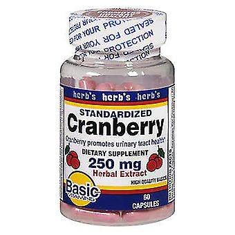 Basis vitaminen cranberry, 250 mg, kruiden extract, capsules, 60 EA