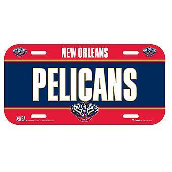 Fanatics NBA license plate - New Orleans pelicans