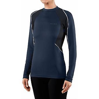 Falke stand up krage långärmad skjorta-Marinblå