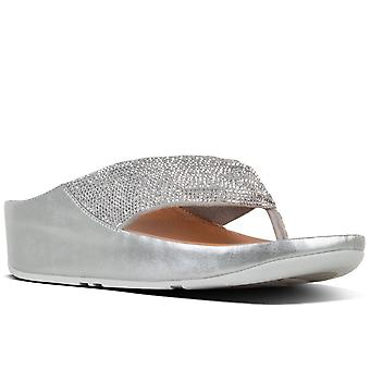 FitFlop™ Twiss Crystal Womens Toe Post Sandals