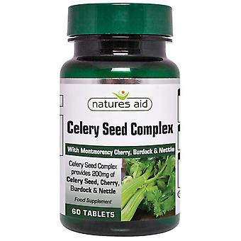 Nature's Aid Celery Seed Complex with Montmorency Cherry; Burdock & Nettle Tablets 60 (130320)