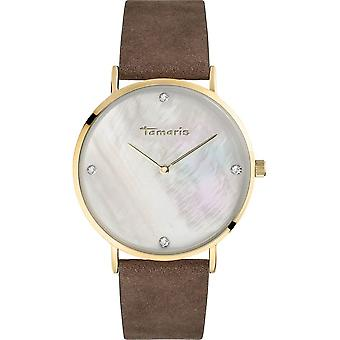 Tamaris - wristwatch - Anika - DAU 30mm - gold - ladies - TW009 - brown gold silver