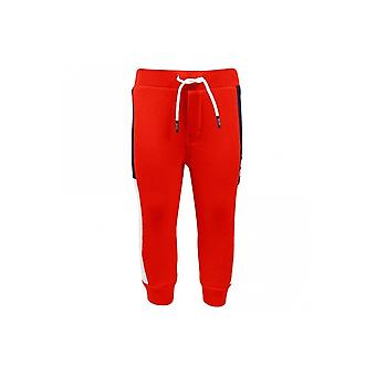 Hugo Boss Boys Hugo Boss Infant Boys Red, Grey And Navy Mesh Panelled Jogging Bottoms