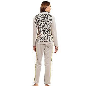 Féraud 3201066-16421 Women's Couture Brown Leopard Print Loungewear Set