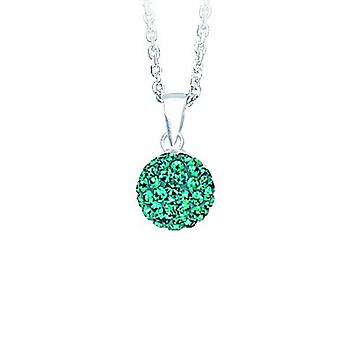 925 Sterling Silver Rhodium Plated Adjustable 10mm Crystal Ball December Necklace 18 Inch Jewelry Gifts for Women