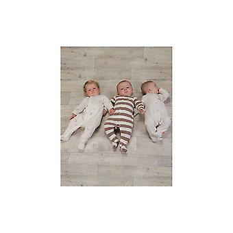 The Essential One Baby Unisex Bold Neutral Stripe Sleepsuits - 3 Pack
