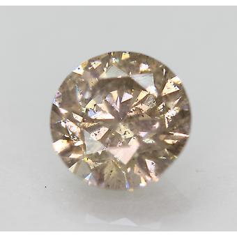 Cert 2.02 Karat Int Brown SI1 Round Brilliant Enhanced Natural Diamond 7.94m 3VG