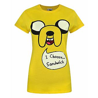 Adventure Time Jake I Choose Sandwich Naisten&Apos;s T-paita