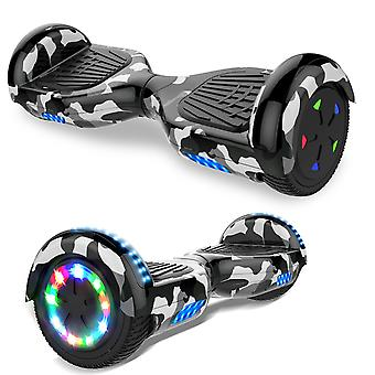 Right Choice Hoverboard Self Balanced Electric Scooter - eingebaute Bluetooth Lautsprecher - LED Wheel-Camouflage