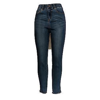 Kelly by Clinton Kelly Women's Jeans Ankle w/ Faux Suede Blue A343669