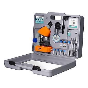 BRESSER Junior 40x-640x mikroskop med tillbehör och transportfodral