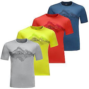 Jack Wolfskin 2021 Mens Crosstrail Graphic Moisture Wicking Lichtgewicht T-shirt