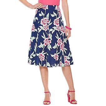 Chums Ladies Floral Skirt Linge Mix 25 pouces Longueur