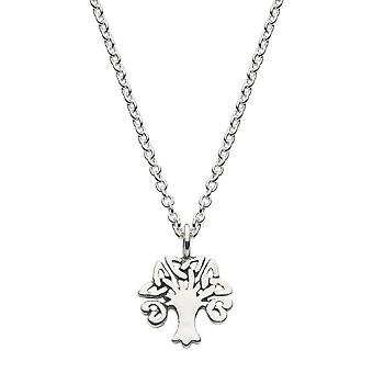 Kit Heath Heritage Sterling Silver Small Tree Of Life Necklace 9229OX026