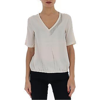 Fabiana Filippi Tpd260b153c0560104 Women's White Acetate T-shirt