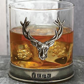Stag Pewter Whisky Glas Single Tumbler