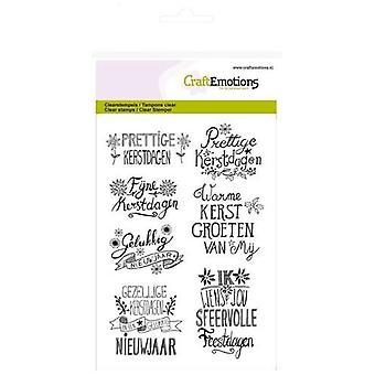 CraftEmotions clear Stamp A6 - Weihnachten Handschrift Weihnachtsstern