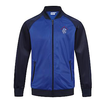 Rangers FC Official Football Gift Boys Retro Track Top Jacket