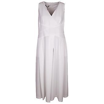 Arggido White Cross Body Sleeveless Wide Culotte Leg Jumpsuit