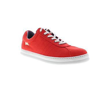 Camper Runner vier Herren rot Canvas Schnürung Low Top Sneakers Schuhe