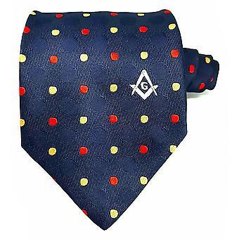 Freimaurer 100 % seidenfarbene Polkadot Krawatte mit Logo