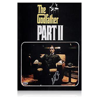 Al Pacino firmado el cartel de la película el padrino 2